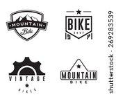 mountain bike retro badges | Shutterstock .eps vector #269283539