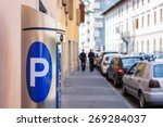 Machine Parking On A City Street