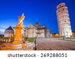 leaning tower of pisa at night  ... | Shutterstock . vector #269288051