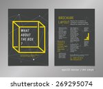 brochure  catalog  cover  page... | Shutterstock .eps vector #269295074