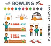 bowling infographic elements... | Shutterstock .eps vector #269297219