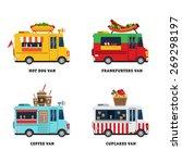 street food van. fast food... | Shutterstock .eps vector #269298197