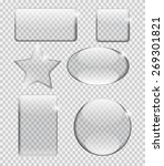 glass transparency frame vector ... | Shutterstock .eps vector #269301821