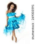 feathered designer dress ... | Shutterstock . vector #269303591