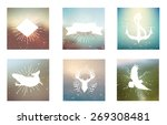 vector logo and background... | Shutterstock .eps vector #269308481