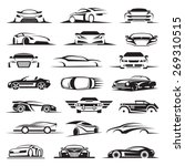 set of twenty one car icons | Shutterstock .eps vector #269310515
