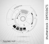 sci fi futuristic user... | Shutterstock .eps vector #269310671