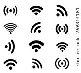 wireless technology  black flat ... | Shutterstock . vector #269314181