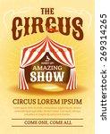 circus poster. vector... | Shutterstock .eps vector #269314265