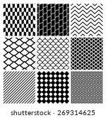 set of 9 black geometric... | Shutterstock .eps vector #269314625