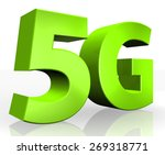 3d 5g text on white background | Shutterstock . vector #269318771
