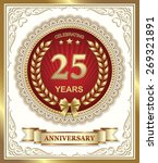 anniversary card 25 years | Shutterstock .eps vector #269321891
