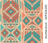 vector tribal mexican vintage... | Shutterstock .eps vector #269326181