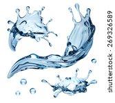 3d Realistic Water Splashing...