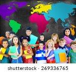 global globalization world map... | Shutterstock . vector #269336765