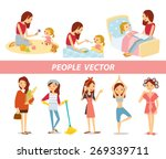 vector set of house keeping and ... | Shutterstock .eps vector #269339711