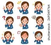 various facial expressions set... | Shutterstock .eps vector #269349764