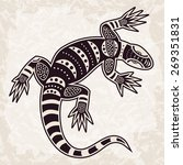ethnic pattern decorative lizard | Shutterstock .eps vector #269351831