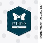 happy fathers day card design ... | Shutterstock .eps vector #269352137