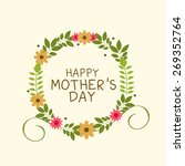 a card happy mother's day. | Shutterstock .eps vector #269352764