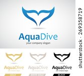 blue fish tail logo icon vector ... | Shutterstock .eps vector #269358719