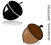 drawing of an acorn in color... | Shutterstock .eps vector #269359361