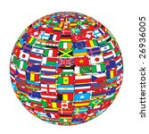 country flags on ball raster... | Shutterstock . vector #26936005