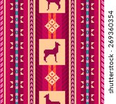ethnic fabric seamless pattern... | Shutterstock .eps vector #269360354