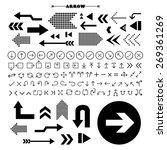 vector arrow sign icon set  | Shutterstock .eps vector #269361269