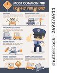 traffic violation infographic | Shutterstock .eps vector #269376911