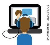 e learning concept design ... | Shutterstock .eps vector #269384771
