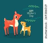 Deers Family Illustration. Fla...