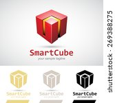 red shiny 3d cube logo icon... | Shutterstock .eps vector #269388275