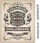 vintage retro hand drawn banner ...