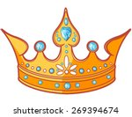 beautiful shiny princess tiara | Shutterstock .eps vector #269394674