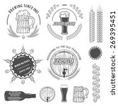 beer emblems   labels and... | Shutterstock .eps vector #269395451