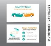 business card vector background ... | Shutterstock .eps vector #269401391