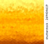abstract yellow geometric... | Shutterstock . vector #269404619