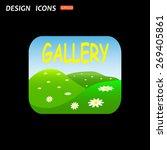 gallery. icon. vector design | Shutterstock .eps vector #269405861