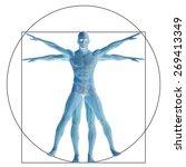 vitruvian human or man as a...   Shutterstock . vector #269413349