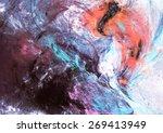 artistic texture of paints.... | Shutterstock . vector #269413949
