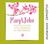wedding invitation template... | Shutterstock .eps vector #269420714