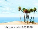 tropical beach | Shutterstock . vector #2694320