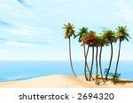 tropical beach | Shutterstock . vector #2694320
