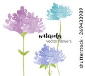 set of abstract watercolor... | Shutterstock .eps vector #269433989