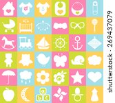 baby icons set. for cards ... | Shutterstock .eps vector #269437079