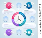 infographic. work time... | Shutterstock .eps vector #269437511