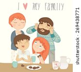 illustration of a happy family... | Shutterstock .eps vector #269438771