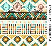 vector colorful ethnic pattern  ... | Shutterstock .eps vector #269439275