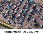 aerial view over crowded ... | Shutterstock . vector #269439695